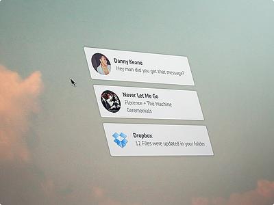 Minimalist Growl Notification (@2x) notification growl theme ui ux interaction sale desktop mac creativemarket