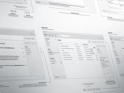 Mac Chat Application Wireframes wireframe high fidelity ux ui planning mac osx application detail chat