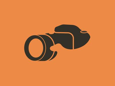 Photographer logo vector illustration vector logo designer logo 2020 orange negative space logo negative space negativespace camera logo logo design logo nikon focus lens camera photography logo photographer photography
