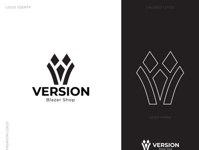 """VERSION"" Blazer Shop Branding Design 2020 fashion branding pixidiamond cloth branding unique logo flat logo minimalist logo fashion design logo fahshion logo cloth logo branding"