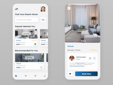 Real - Estate - App ux ui design app
