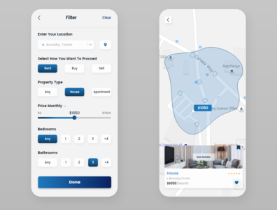Real - Estate - App ui ux design app
