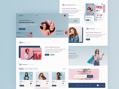 E-commerce Web fashion online store online shop store shop ecommerce design ecommerce web ui uiux design ui design trend clean landing page design landing page landing web design website web uiux ui