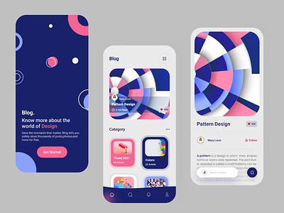 Blog App trend2021 designer mobile ui ux uiuxdesign app design clean colors mobile ui mobile application trendy trendy design trend blog app app blog ui designer uiux ux ui