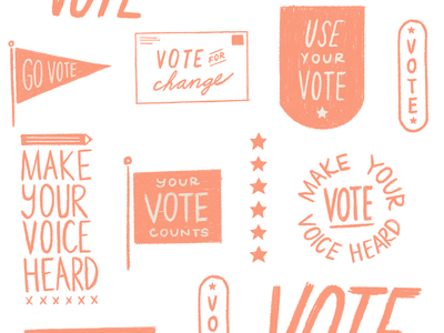 Election Illustration votes elections govote voting election vote hand design lettering illustration