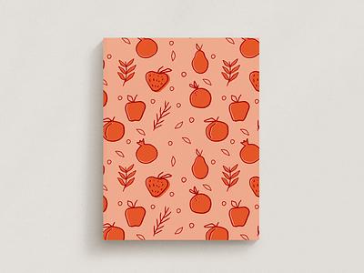 Fruity Stationary stationary mockup stationary pomegranate apple fruits fruit illustration strawberry pear fruit