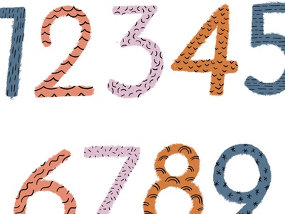 dribble numbers illustration numbers