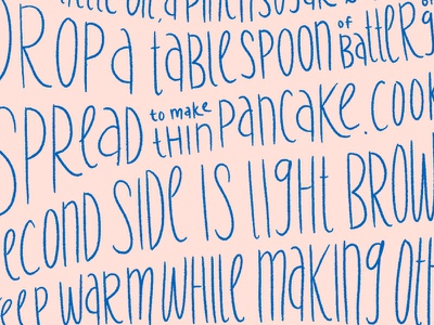 dribble recipe recipe lettering illustration