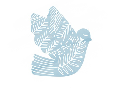dribbbe peace illustration peace bird