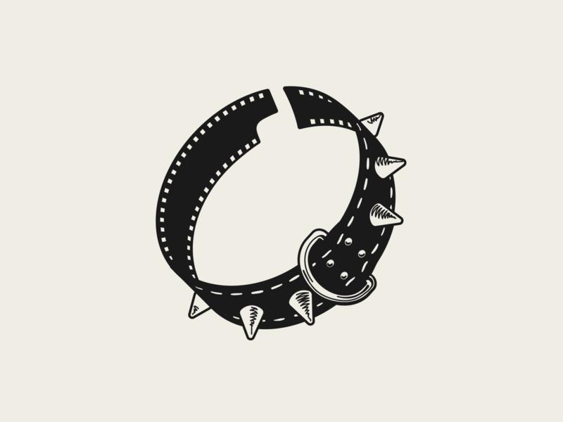 Collar & Film Logo vector logo design logo film reel dog illustration collar pet photography