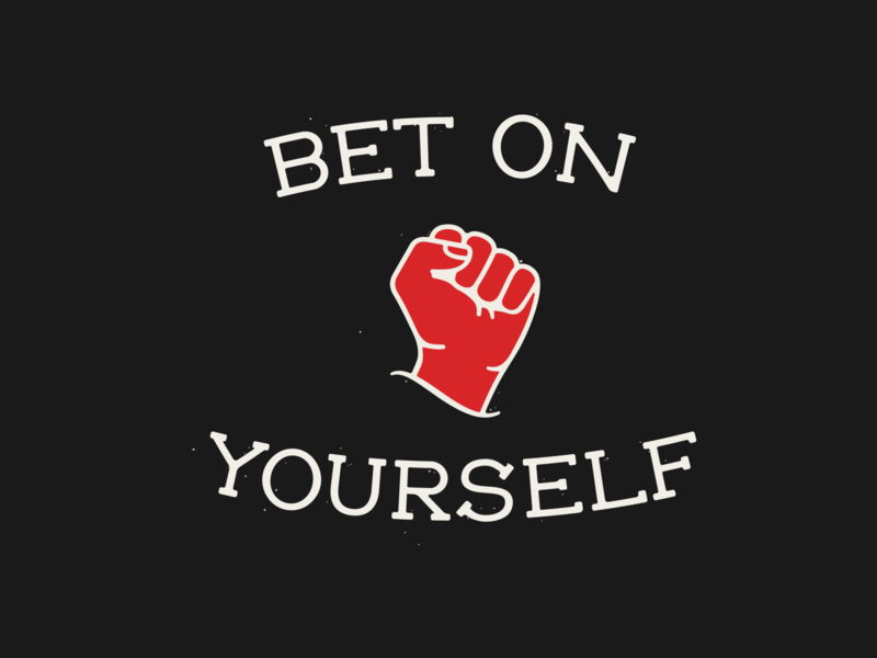 Bet on Yourself inspiration handlettering handlettered badge logo illustration typography