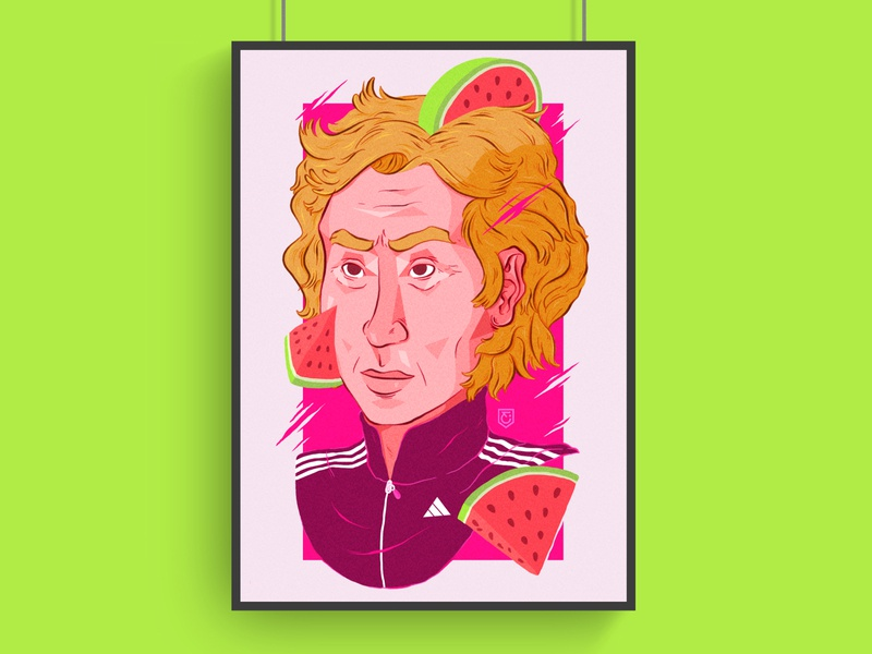 Fit mind clipstudiopaint clipstudio cartel poster art poster sport illustration sports sport fitness fit green pink watermelon color adidas portrait illustration portrait painting portrait art portrait