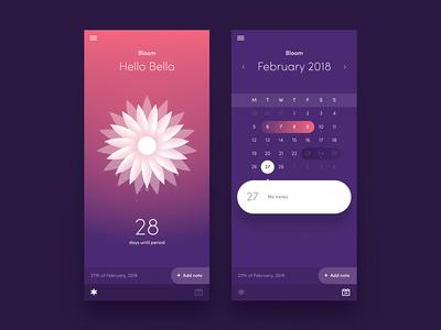 Bloom Period Tracker tracking app flower calendar wellness health female tracker period bloom