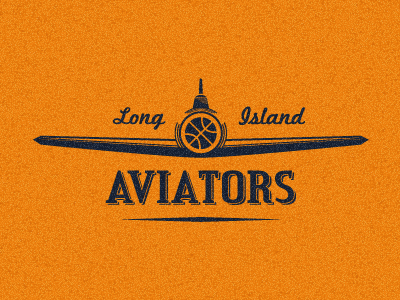 Aviators long island aviators new york old retro vintage basketball ball plane airplane logo