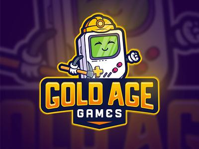 Gold Age Games - Mascot Logo mascot design venezuela mascot branding gamestore games logo mascot character mascot logo vector design work illustration drawing design art logo