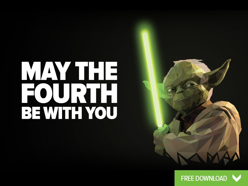 May The Fourth Be With You Wallpaper By Peter Spencer Dribbble