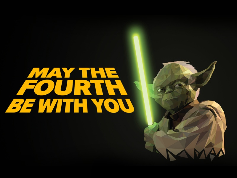 Yoda May The 4th Be With You starwars wallpaper free yoda green triangle shape illustration