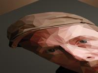 Simon Pegg Polygon Portrait
