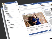 Facebook newsfeed facelift