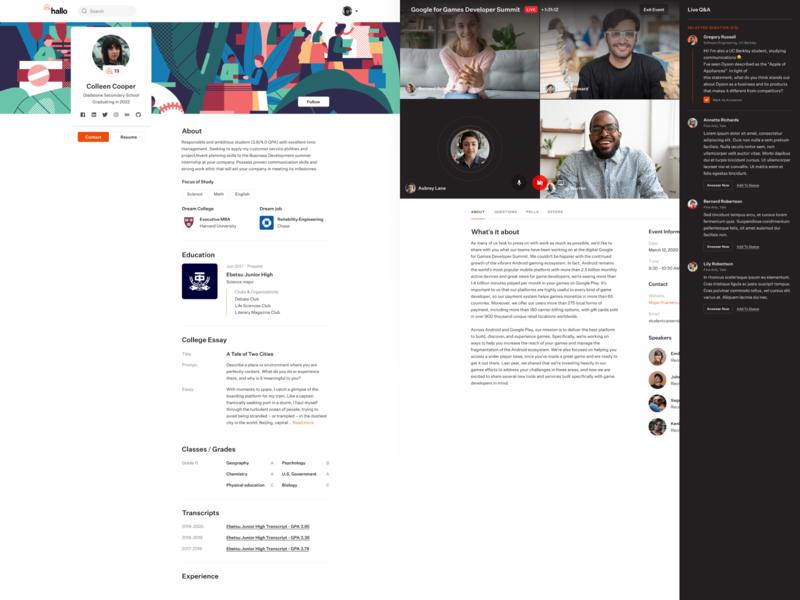 Recruiting platform product design data app web ux ui dashboad productdesign education