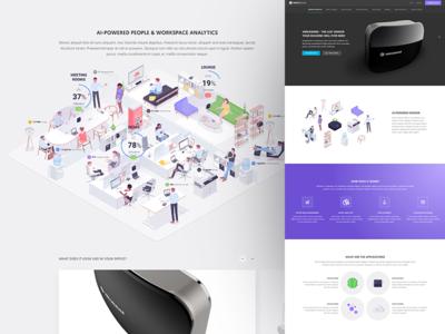 Vergesense landing page startup design ui typography icon app branding ux type flat web landing page