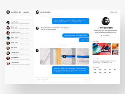 Message app - Chat room message web flat type ux branding app icon ui  typography design dashboard