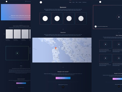 XIX Conference Wireframe dashboard design ui  typography icon app branding ux type flat web landing