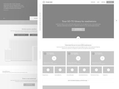Simple Habit landing page wireframe web flat type ux branding app icon ui  typography design mobile