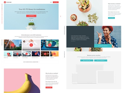 Simple Habit landing page mobile design ui  typography icon app branding ux type flat web