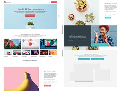 Simple Habit landing page mobile design ui  typography icon app branding ux type flat web
