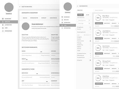 Hiring Platform saas app saas web ux typography ui type flat design dashboard branding app