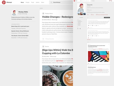 Cleary - Pinterest style web ux typography ui type flat design dashboard branding app social pinterest