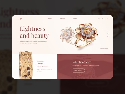 Jewerly website online shopping online marketing online store webdesign jewels ring silver gold website jewelry