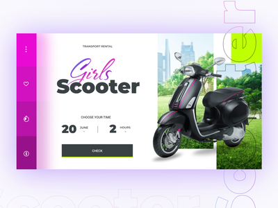 Scooter Rental Website for Girls sport young life young people modern website motosport motorcycle motorbike moto girls