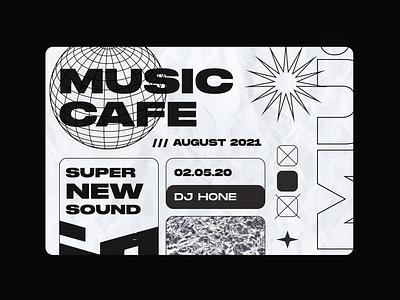 Website for a music rock cafe rave shindig crowd party performances bands music poster website new trends rockstar dj musical concert dance studio rock cafe singer dance disco
