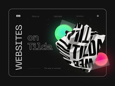 Creative website for an IT company on Tilda wordpress trends 2021 promotion development space neon black designers day creativity creative web studio event website software technology it landing page tilda