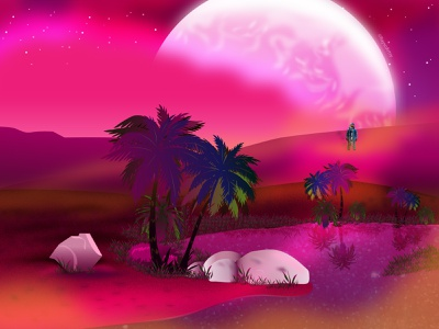 Rojo 3000: The Landing PT.3 astronomy comic series black artist dribbble character design space universe moon stars cosmo galactic astronaut storytelling illustrator illustration vector design art