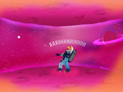 Rojo 3000 PT.4 character design series comic storytelling moon stars universe black artist astronaut dribbble galaxy cosmo solar system nasa space illustrator illustration vector design art