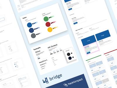 Bridge: Hack4Impact UIUC's Design System student social good elements ui design application app component library typogaphy product design style guide design system design