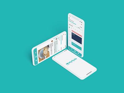 MyTyde product design ios app design ios branding mobile mobile ui ux ui design application