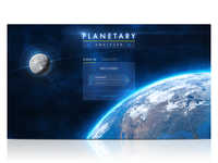 Planetary Analyzer Login UI