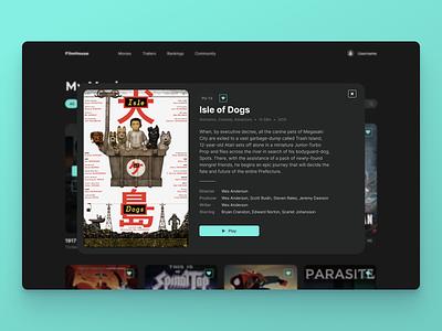 Movie Info Card use interface streaming isle of dogs movies card info card interface ui product design