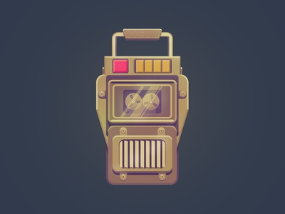 Would you kindly? audio tape recorder illustration audio diary bioshock