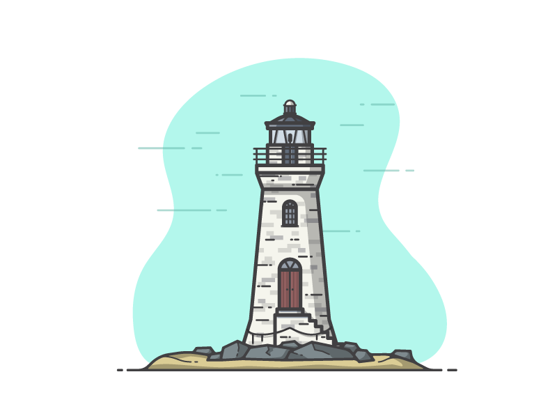 Cockspur island lighthouse dribbble