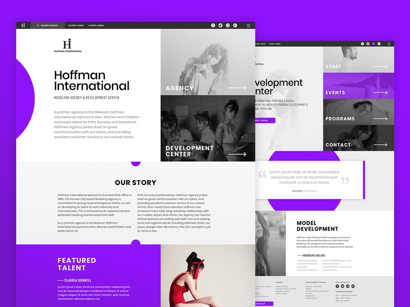 Hoffman Web Concept by Todd Zlab on Dribbble