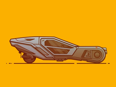 Blade Runner car futuristic dystopian line illustration illustration flying car vehicle blade runner 2049 blade runner spinner