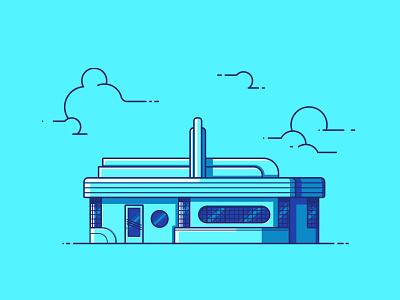 66 Diner line illustration illustration architecture building route 66 new mexico vintage diner 66 diner