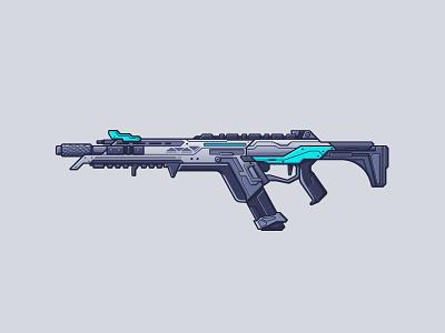 Apex Legends - R301 line illustration illustration gun weaponry video game weapon rifle r301 apex legends legends apex