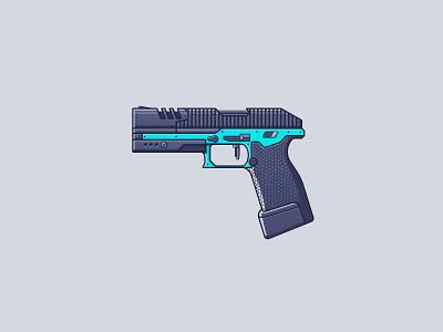 Apex Legends - P2020 line illustration illustration gun battle  royale video games weapon pistol p2020 apex legends legends apex