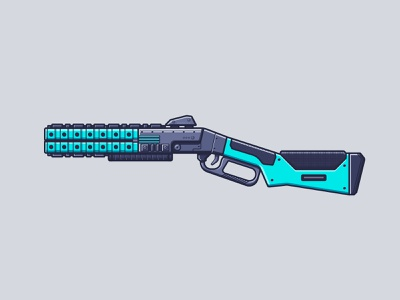 Apex Legends - Peacekeeper battle royale line illustration illustration gun weapon shotgun peacekeeper video game apex legends legends apex